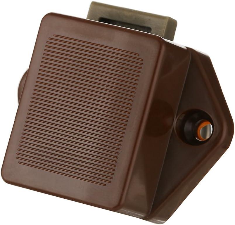 blanc 20 mm Bouton poussoir Verrou armoire Loquet sans cl/é 5pcs Bouton de porte placard Serrure de meuble Fermoir pour RV caravane tiroir camping-car