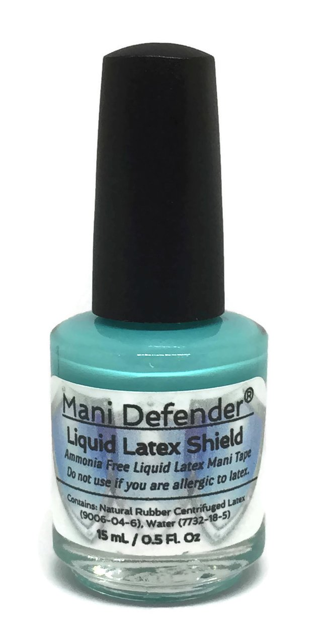 Mani Defender Liquid Latex for Nail Art | Ammonia Free Liquid Nail Tape | Easy Peel Off Cuticle Guard | Liquid Latex for Nails Barrier for Nail Art & Manicures