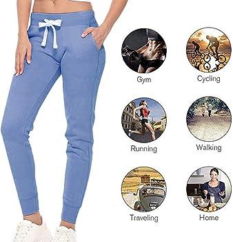 Shujin - Pantalones de chándal para Mujer, con puños y Forro Polar ...