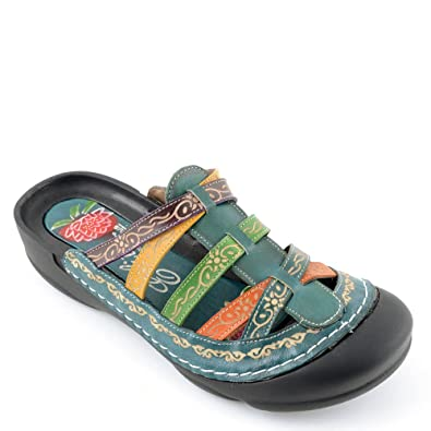 Corkys Womens Elite Rock Slip On Clogs Sandals (11 B(M) US Blue Multi)
