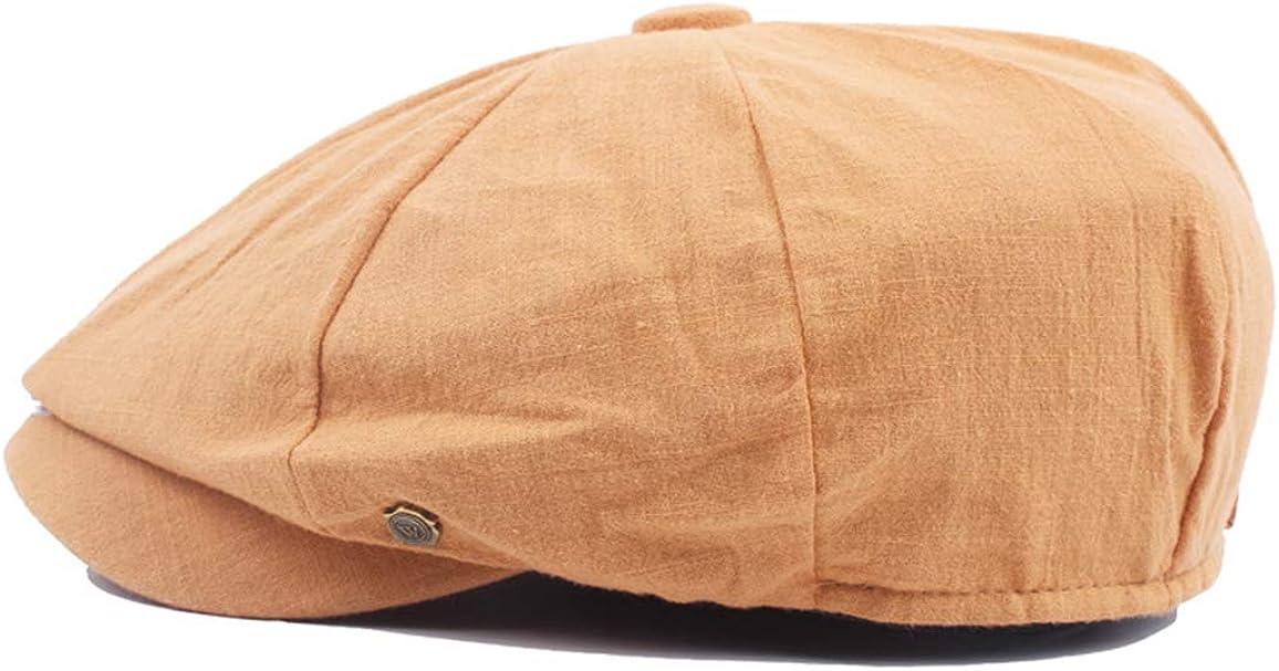 IZUS Painter Newsboy-Hat French Beret Unisex Octagonal Cotton Cabbie Flat Hat