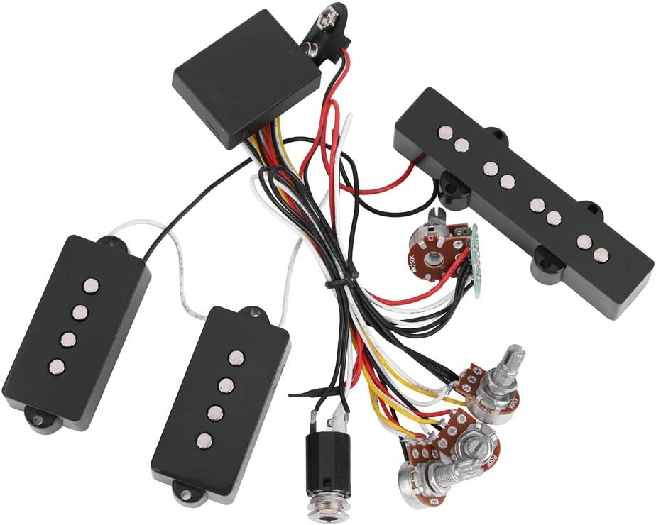 Amazon.com: Bass Pickup Guitar Wiring Harness Electric Bass Preamp Wiring  Circuit Pickup Replacement Accessory for Bass Guitar Active Equalizer:  Kitchen & DiningAmazon.com