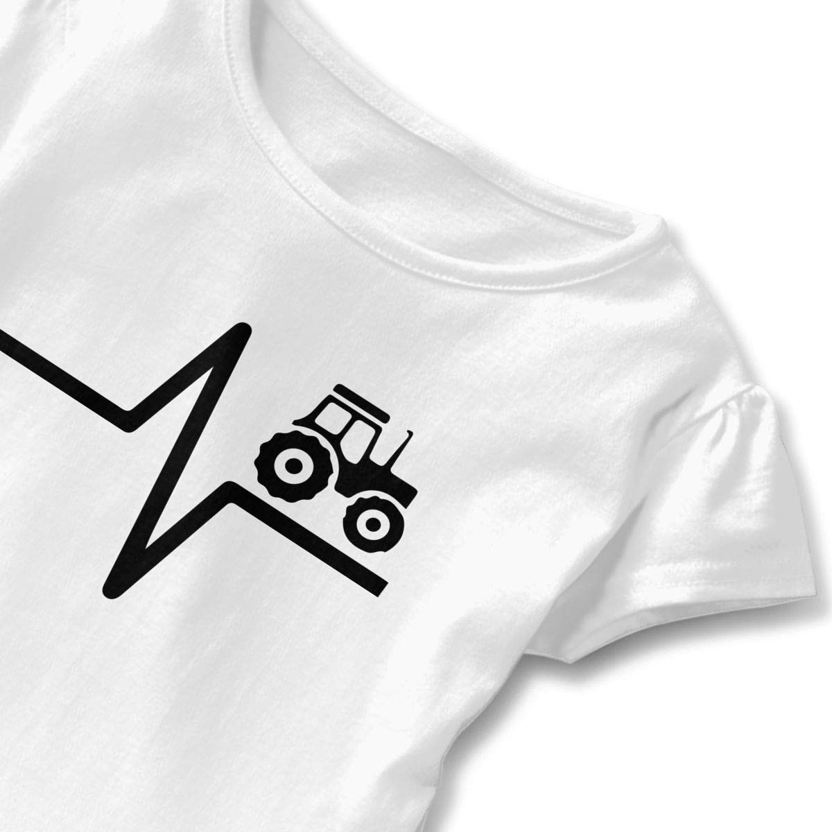Tractor Lovers Baby Girls Short-Sleeved T-Shirt Tops