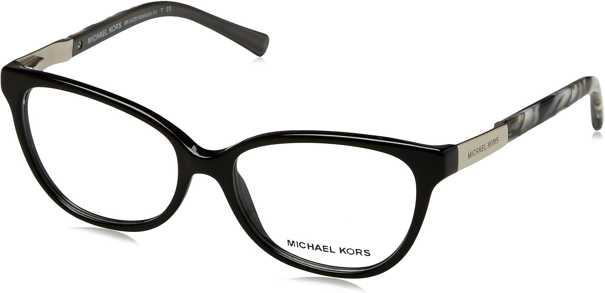 21b804bb826e Michael Kors ADELAIDE III MK4029 Eyeglass Frames 3120-51 - Black Metallic  Black MK4029-
