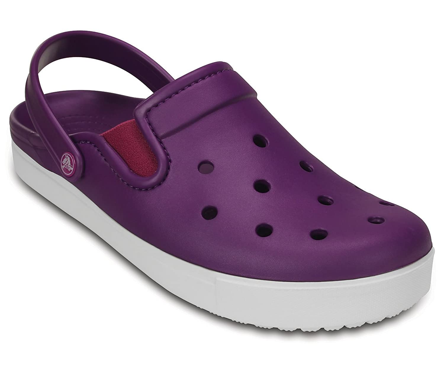 Crocs - Unisex Citilane Clog, Size: 2 D(M) US Mens / 4 B(M) US Womens, Color: Amethyst/White