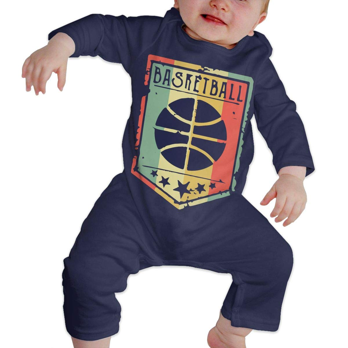Vintage Basketball 1 Newborn Kids Baby Boys Long Sleeve Bodysuit Jumpsuit Outfits