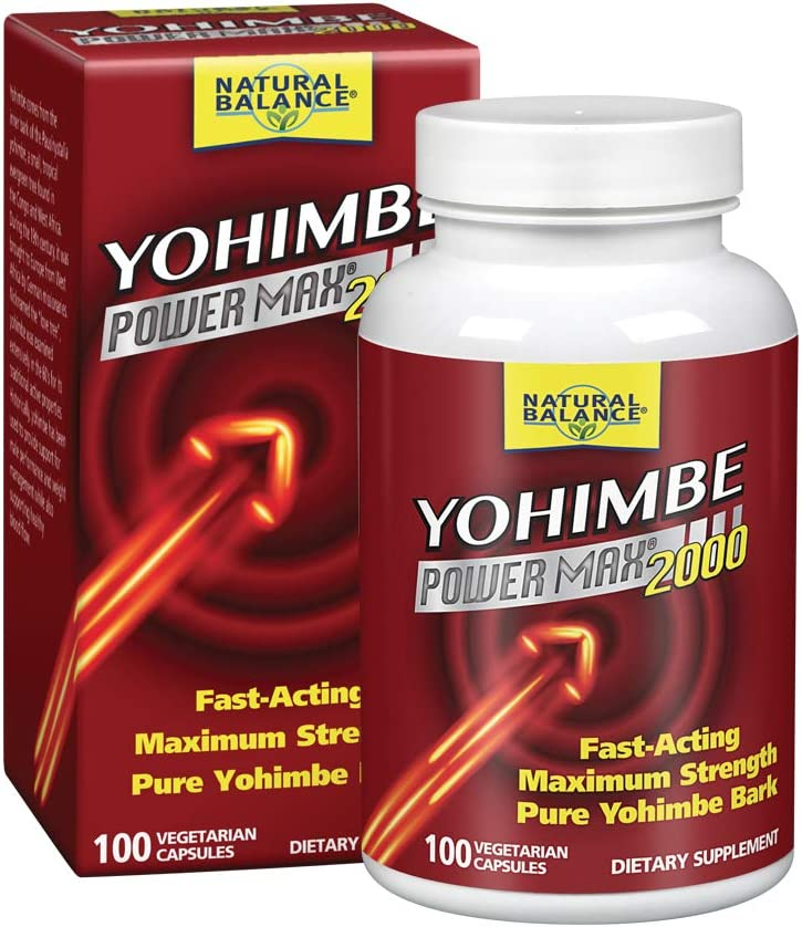 Natural Balance Yohimbe Power Max Bark Extract 2000 Mg Supplements, 100 Count