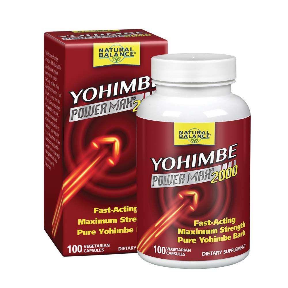 Natural Balance Yohimbe Power Max Bark Extract 2000 Mg Supplements, 100 Count