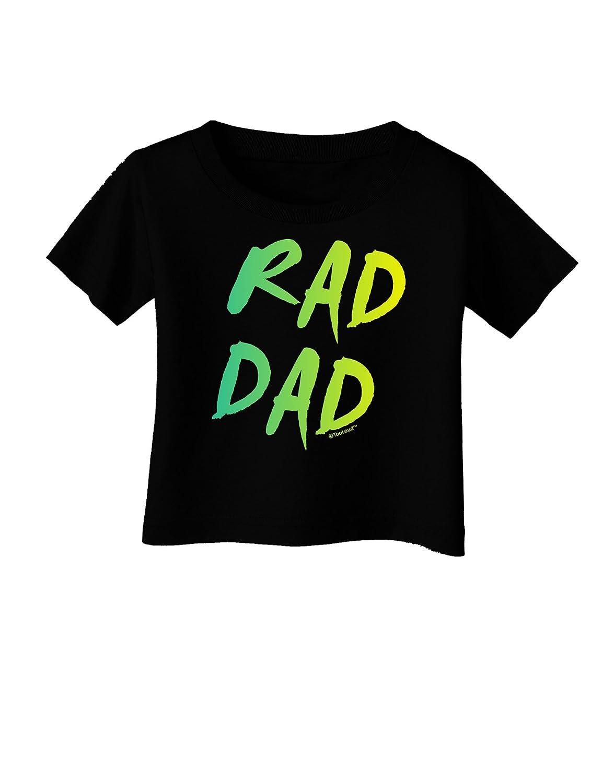 80s Neon Infant T-Shirt Dark TooLoud Rad Dad Design