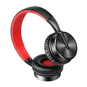 Zmsdt Auriculares Inalámbricos Auriculares Bluetooth Plegable Ajustable Smart Insert Card Auriculares Música Móvil Eat Chicken Game Stereo (Color : Black ...