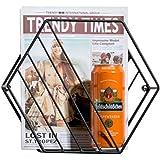 Revistero metálico Revistero pared Revista y periódico titulares Colgante organizador del almacenaje para sala de estar dormitorio cuarto de baño-A 14x22x24cm(6x9x9)