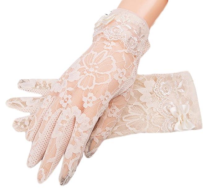 FORLADY Sommer Driving Sonnenschutz und rutschfeste Handschuh Frau Sonnenschirm Handschuhe mit d/ünnen Handschuhen und UV-Proof Handschuhe Spitze Handschuhe