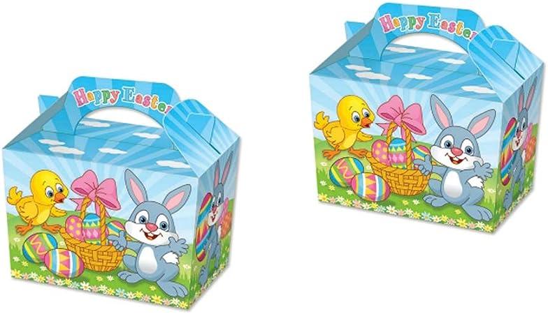 Cajas de comida con temática de animales, caja de comida para picnic, bolsa de fiesta de cumpleaños para niños Pack de 6: Amazon.es: Hogar