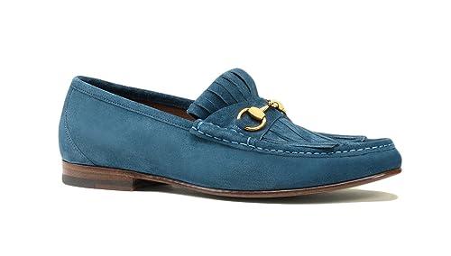 f26f2f6007c Gucci Men s Suede Fringe Horsebit Loafer