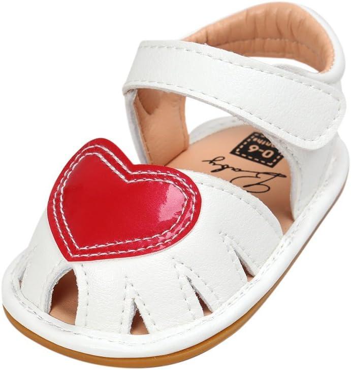 KISSION Sandalo Bimbo Suole in gomma Scarpine Primi Passi 0-18 Mesi Unisex