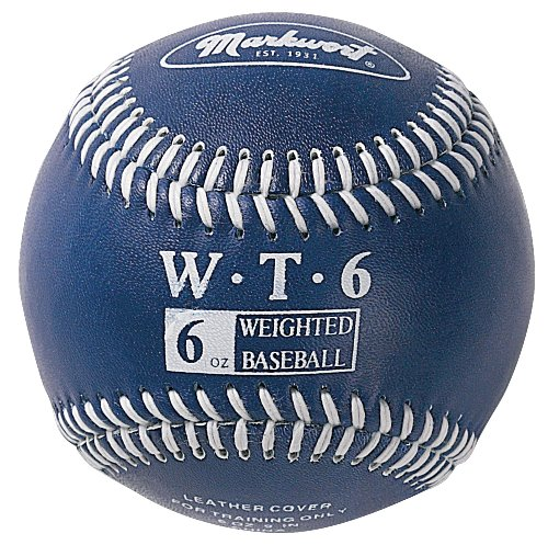 Markwort Weighted 9-Inch Baseballs-Leather Cover (Individually Boxed), Navy
