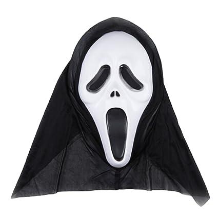 1pc Fantasma máscara de Halloween,AZX,Máscara Cosplay Multiforme Suministros Tremendo,Cara de