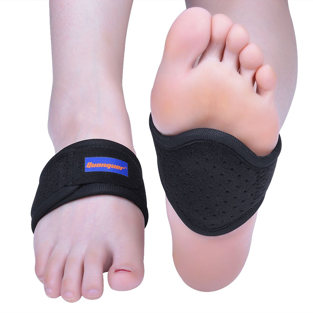 Arch Support Brace by Quanquer, 2pcs Plantar Fasciitis Braces Relieve Arch Pain, Heel Spurs and Flat Feet