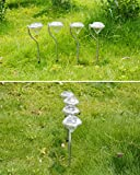 Garden Lawn Solar Power LED Diamond Path Lights Lamp Outdoor Décor (4 Pack)