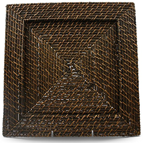 Drew Rattan Charger Plate (Set of 4) (Rattan Charger Plates Square)