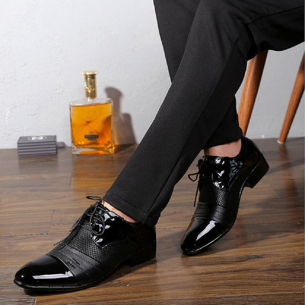 Hochzeit Schn/ürhalbschuhe Oxford Anzug Leder Derby M/änner Lackleder Lederschuhe Elegant Schwarz Braun 38-48 Anzugschuhe Herren Business Schuhe