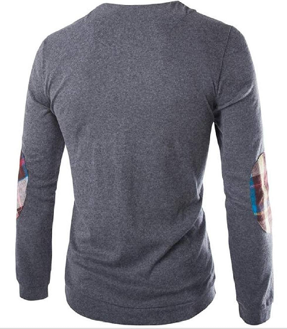 Lutratocro Mens Long Sleeve Crew Neck Henleys Shirts Vogue T-Shirt Top Tee