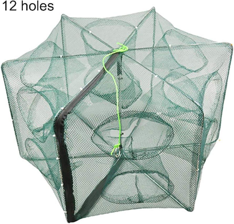 1 Nylon Fischernetz Rhombus Mesh Loch Net Faltbare Angeln Tools 3 Größen ZF