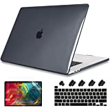 May Chen for MacBook Pro 13 Case 2020 Release Models: A2289 A2251, Clear Plastic Hard Shell Case Keyboard Cover + Screen Protector + Dust Plug for Mac Pro 13 Touch Bar Fits Touch ID, Crystal Black