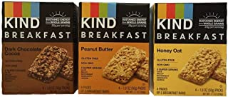 product image for KIND Breakfast Bar Variety Bundle: Dark Chocolate Cocoa, Peanut Butter, Oats 'n Honey (1 box of each)