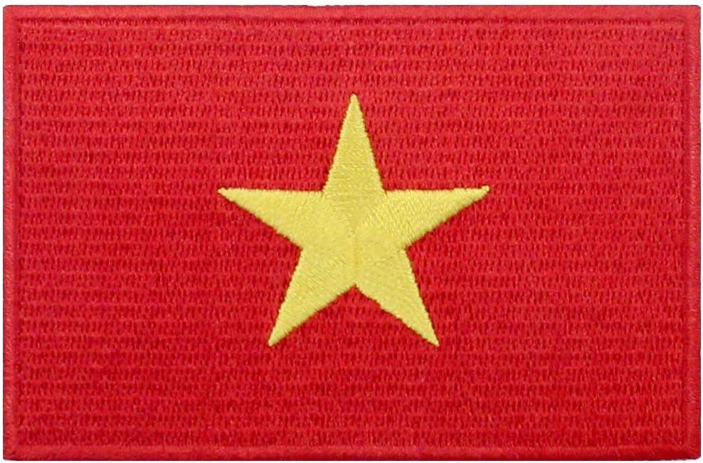 Bandera de vietnam Parche Bordado de Aplicaci/ón con Plancha