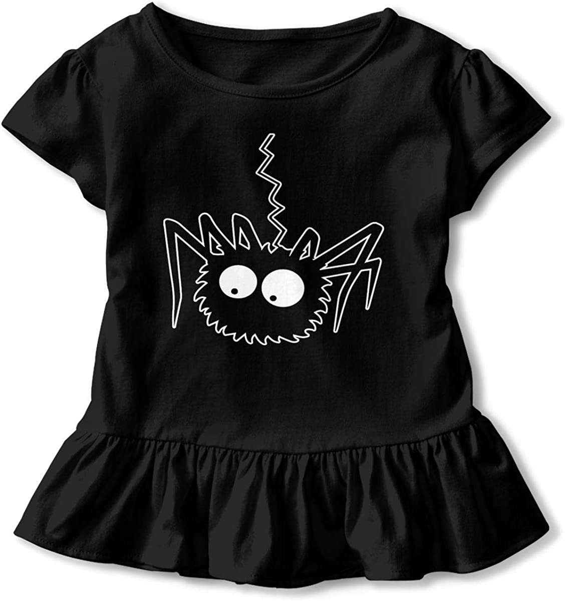 NMDJC CCQ Cute Spider Baby Skirts Lovely Kids T Shirt Dress Short Sleeve Flounces Skort