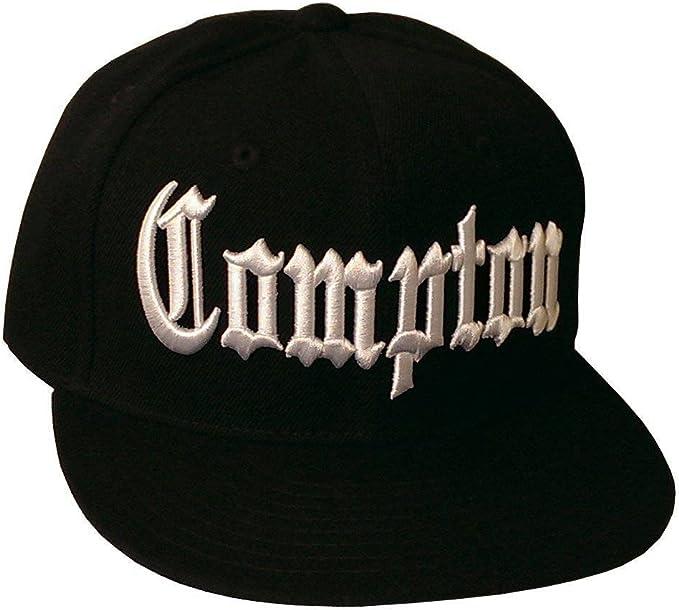 Compton Professional Style Snapback Hat Baseball Cap Black