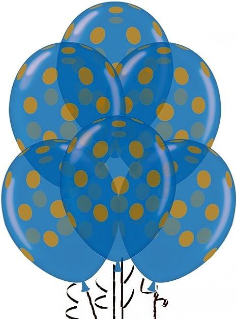 Polka Dot Balloons 11in Premium Black and Orange with All-Over print Orange and Black Dots Pkg//50 PMU