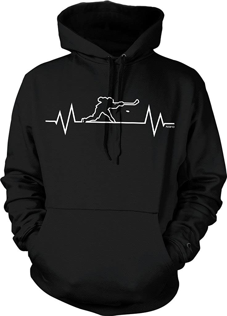 Hockey Heartbeat, I Love Hockey Hooded Sweatshirt, NOFO Clothing Co.