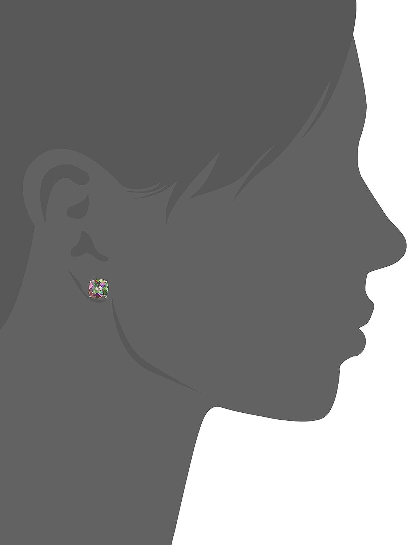 14k Gold Cushion-Cut Checkerboard Created or Genuine Stud Earrings