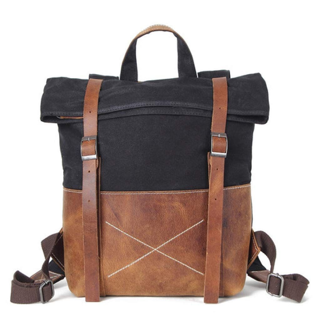 CHBAOZI Mens Retro Bag Shoulder Waterproof Bag Retro Mens Backpack Travel Bag Mountaineering Bag Casual Outdoor Sports Backpack Multi-Color Optional Color : C
