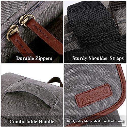 e40df4bad790 SOCKO Canvas Laptop Backpack Business Travel Luggage Bag College Backpack  Student School Shoulder Bag Men Women