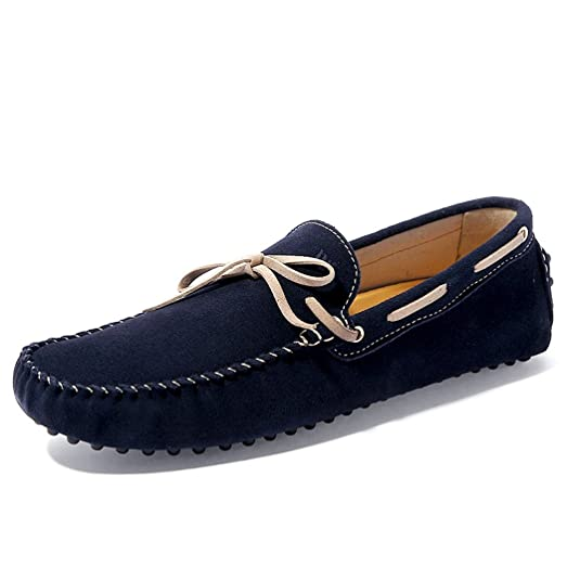 Fashion Mens Loafers Suede Bowknot Design Slip-On Car Flat Shoe