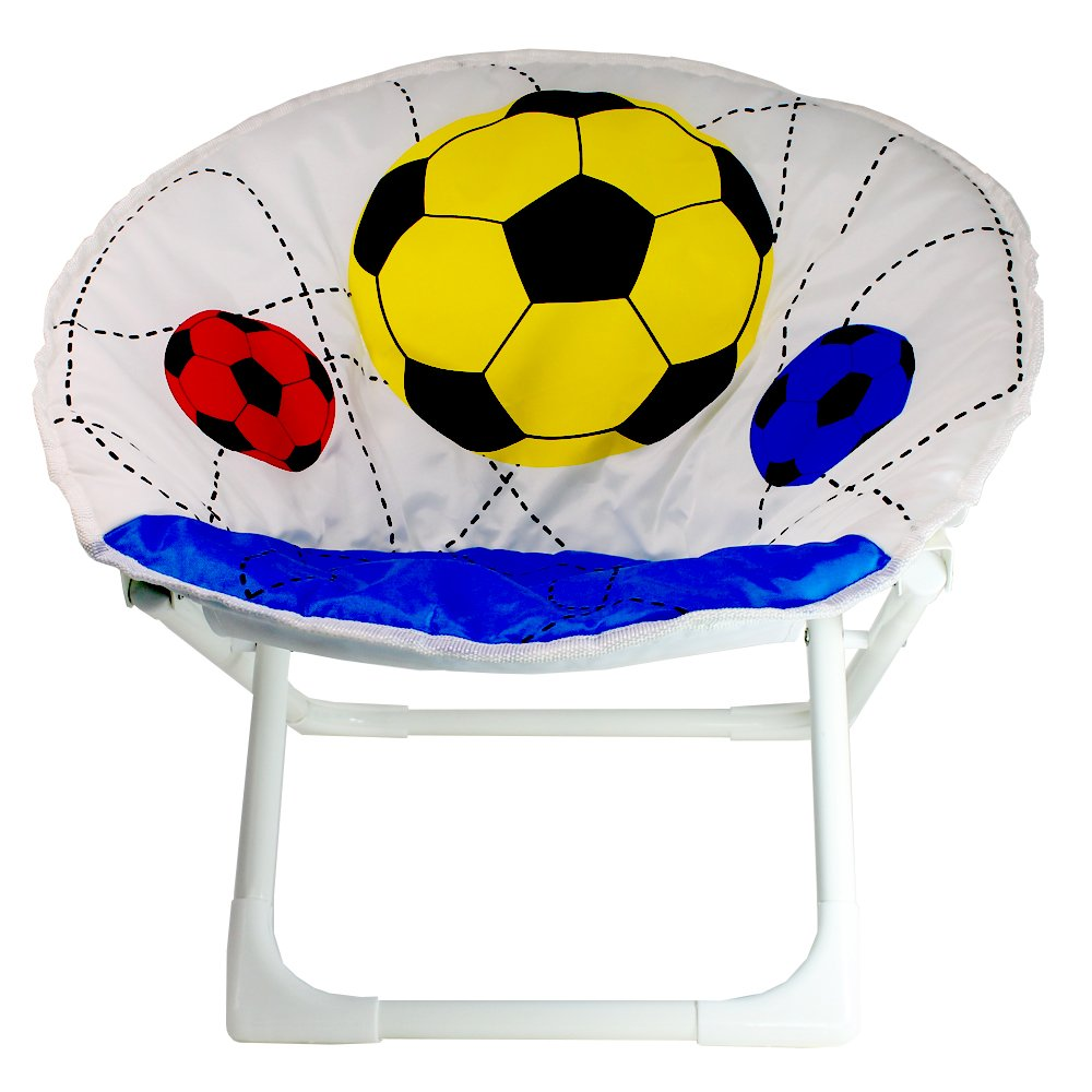 Xell Toddlers Saucer Folding Chair with Soccert Ball Design