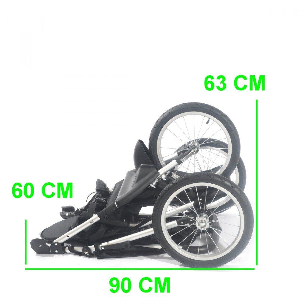 Jogger Buggy S10 Kinderwagen Sportwagen Stroller Babywagen Kids Luftreifen Schwarz