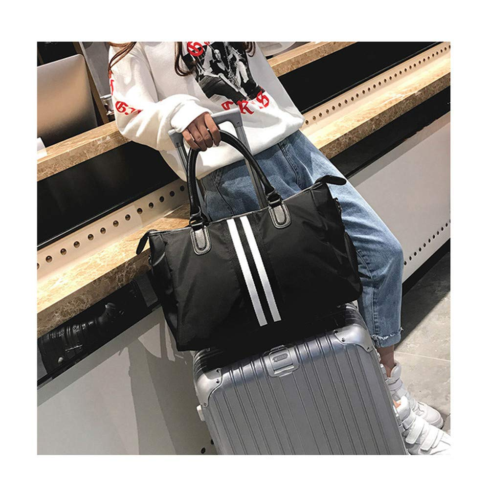 Travel Duffel Unisex Overnight Weekend Weekender Travel Bag Striped Waterproof Holdall Gym Sports Tote Bag Travel Carry On Duffles Bags with Shoes Compartment Luggage Bags Handbag Shoulder Bags Gym Sp