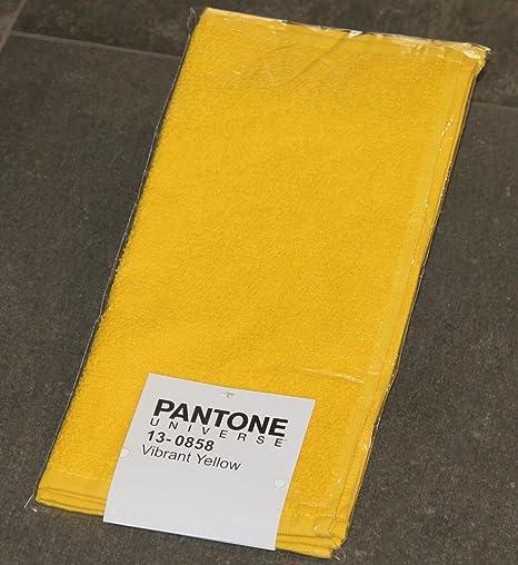 Juego 2 Toallas Pantone by Bassetti 13 – 0858 Vibrant Yellow Amarillo Tinta Unita cm 30