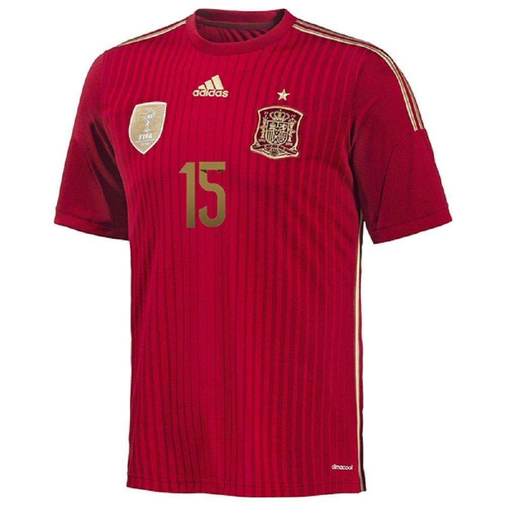 863025aae93 Amazon.com : Adidas Sergio Ramos #15 Spain Home Jersey World Cup 2014 (XL)  : Clothing