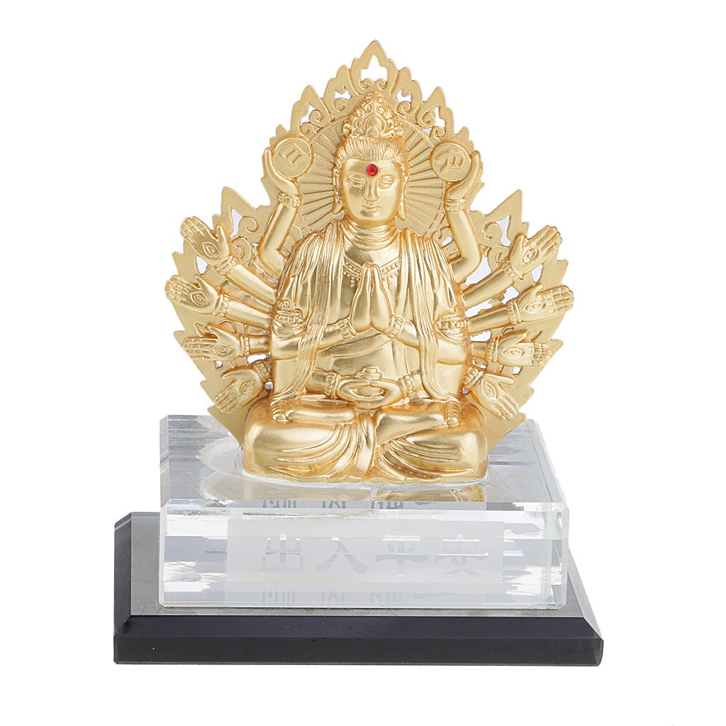 Baosity Air Freshener Seat Goddess of Mercy Buddha Perfume Seat Bottle Car Ornament