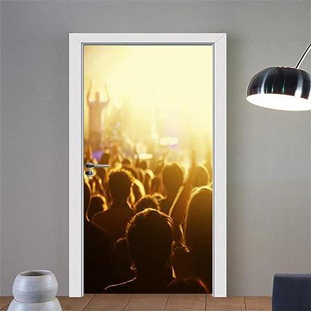 Adesivi Vinile Per Porte.Guow Adesivi Per Porte Stereoscopiche 3d Adesivi Murali In Vinile