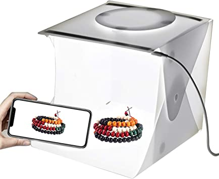 SANON Estudio Fotográfico Portátil Caja de Luz Carpa de Luz Fotográfica Caja de Luz Plegable Blanca con 40 Luces LED + 6 Fondos para La Exhibición del Producto: Amazon.es: Electrónica
