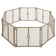 North States Superyard Indoor Outdoor 8 panel Playard-Sand