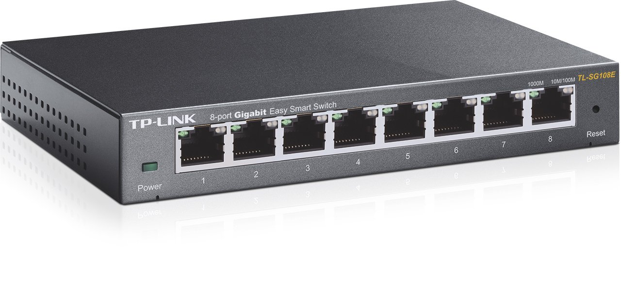 61G24i6MW8L._SL1280_ amazon com tp link 8 port gigabit ethernet easy smart switch  at bakdesigns.co