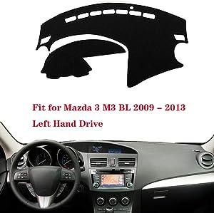 N2Qnice Car Auto Dashboard Cover for Mazda 3 M3 BL 2009 2010 2011 2012 2013 Left Hand Drive Dashmat Pad Carpet Dash Mat