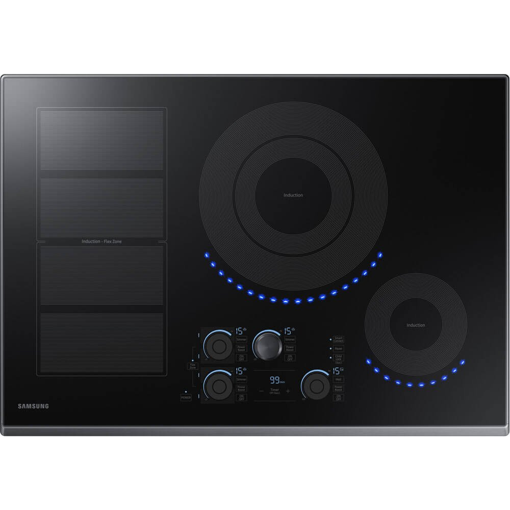"Samsung 30"" Black Stainless Steel Induction Cooktop NZ30K7880UG"